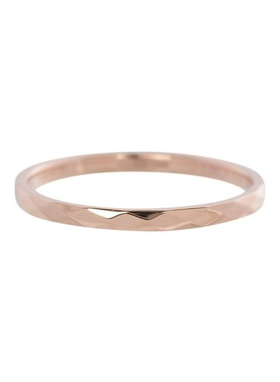 iXXXi Jewelry iXXXi Ring 2 mm Hammerite Rose – R2803-2
