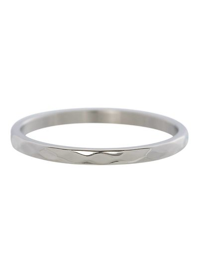 iXXXi Jewelry iXXXi Ring 2 mm Hammerite Zilver – R2803-3