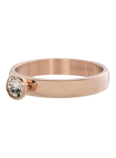 iXXXi Jewelry iXXXi Ring 4 mm Zirconia 1 steen Crystal Rose – R3001-2