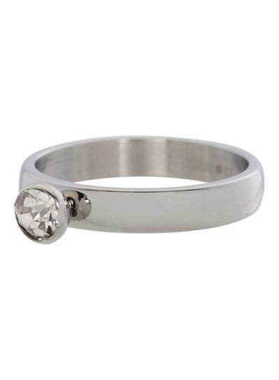 iXXXi Jewelry iXXXi Ring 4 mm Zirconia 1 steen Crystal Zilver – R3001-3