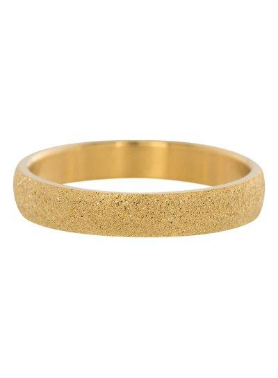 iXXXi Jewelry iXXXi Ring 4 mm Sandblasted Goud – R2901-1