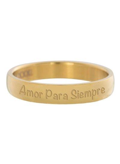 iXXXi Jewelry iXXXi Ring 4 mm Amor Para Siempre Goud – R2103-1