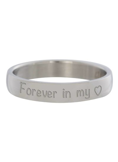 iXXXi Jewelry iXXXi Ring 4 mm Forever in my heart Zilver – R2106–3