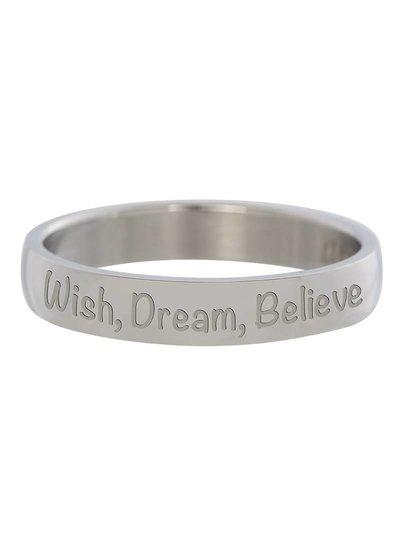 iXXXi Jewelry iXXXi Ring 4 mm Wish Dream Believe Zilver – R2108–3