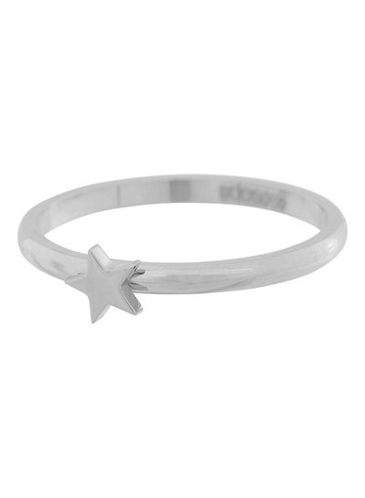 iXXXi Jewelry iXXXi Ring 2 mm met ster Zilver