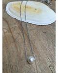 Zilveren ketting met parel
