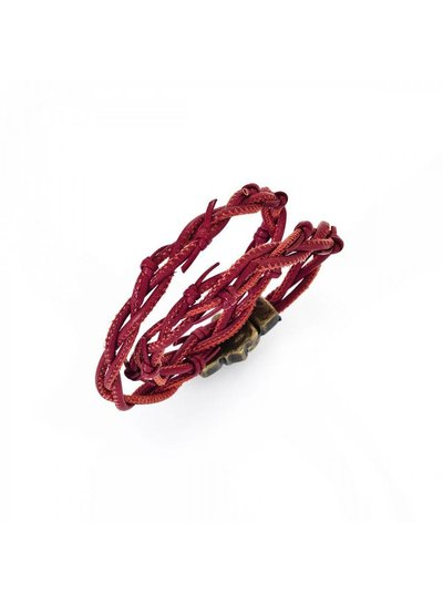 Amen Leren armband in de kleur rood van het merk Amen