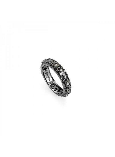 Amen Prachtige zilveren ring met zwarte zirkonia van Amen