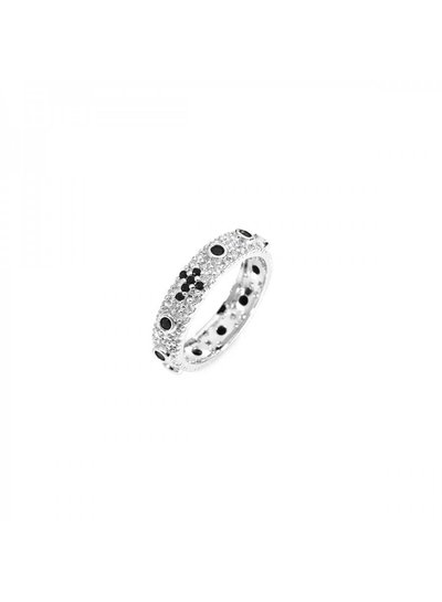 Amen Prachtige zilveren ring met witte zirkonia van Amen