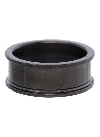iXXXi Jewelry iXXXi Basis Ring 8 mm Zwart – R1701-5