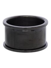 iXXXi Jewelry iXXXi Basis Ring 12 mm Zwart – R1801-5
