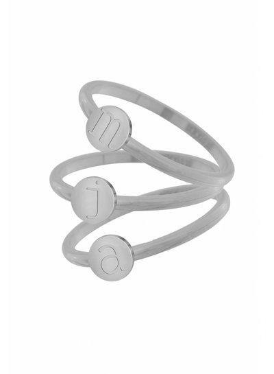 iXXXi Jewelry iXXXi Alfabet Ring 2 mm Zilver A-Z