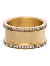iXXXi Jewelry iXXXi Basis Ring 10 mm Goud Zirconia – R7001-1