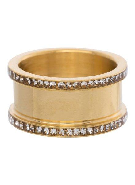 iXXXi Jewelry iXXXi Basis Ring 10 mm Goud Zirconia – R7001-1