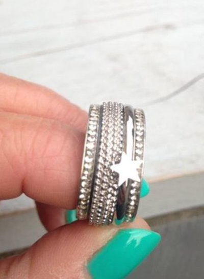iXXXi Jewelry iXXXi Ring 4 mm Kaviaar Zilver – R3801-3