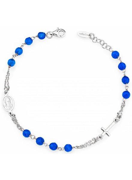 Amen Amen armband Zilver blauw