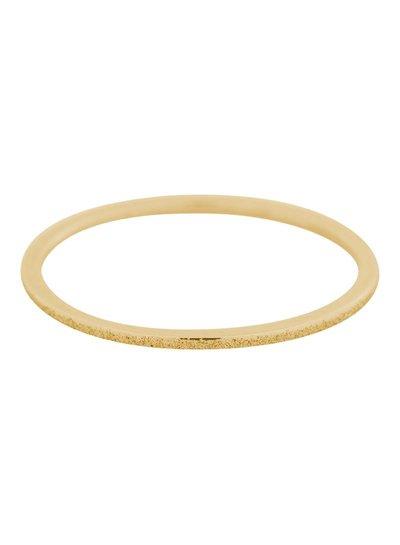 iXXXi Jewelry iXXXi 1 mm Ring Sandblasted Goud – R3901-2