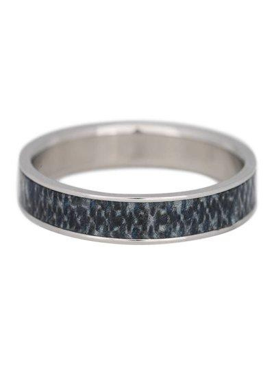 iXXXi Jewelry iXXXi Heren Ring 4 mm Jeans Mat Zilver– R9301-4