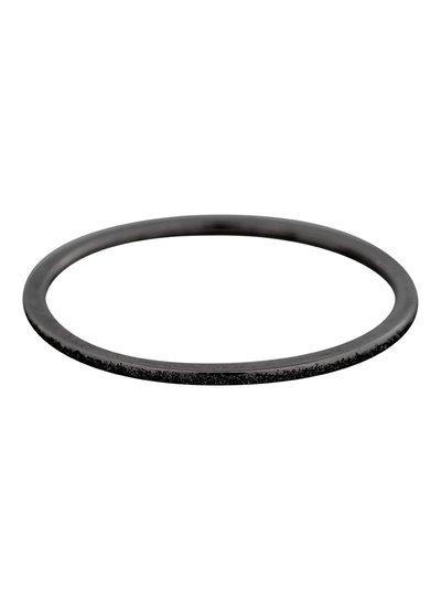 iXXXi Jewelry iXXXi 1 mm Ring Sandblasted Zwart – R3902-5