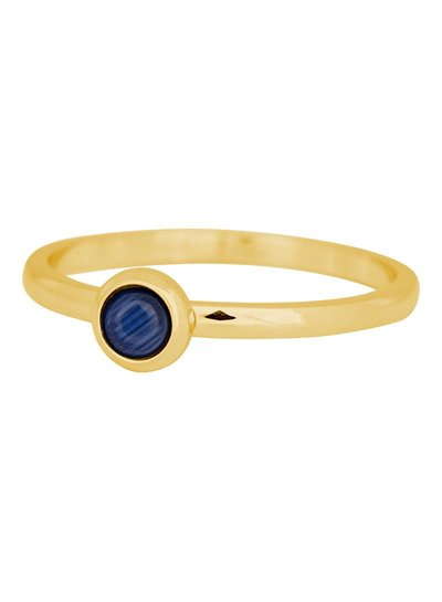 iXXXi Jewelry iXXXi Ring 2 mm Natuursteen navy blauw Goud – R4102-1