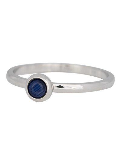 iXXXi Jewelry iXXXi Ring 2 mm Natuursteen navy blauw Zilver – R4102-3