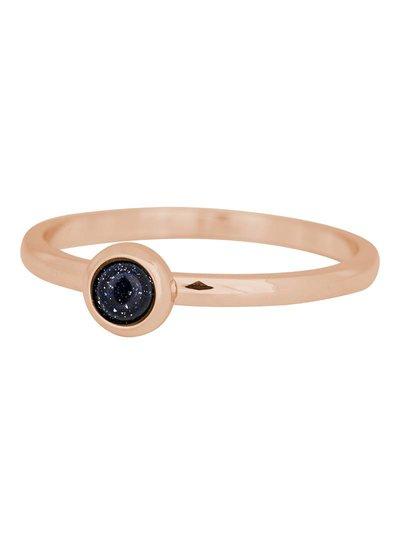 iXXXi Jewelry iXXXi Ring 2 mm Natuursteen dark blauw Rose – R4103-2