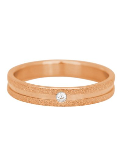 iXXXi Jewelry iXXXi Ring 4 mm Sandblasted Crystal stone Rose – R3603-2