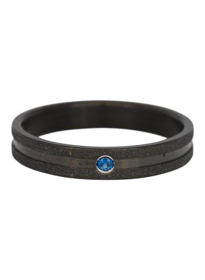 iXXXi Jewelry iXXXi Ring 4 mm Sandblasted Montana stone Black – R3602-5