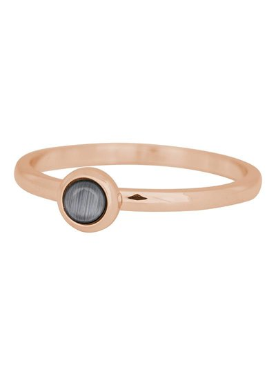 iXXXi Jewelry iXXXi Ring 2 mm Natuursteen grijs Rose – R4101-2