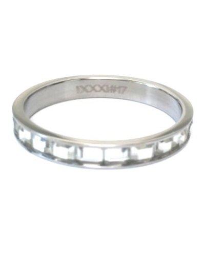 iXXXi Jewelry iXXXi Ring 4 mm Clear Glass Wit Zilver – R3007-3