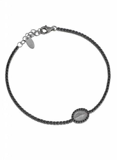 Amen Prachtige geloofsarmband zilver met zwarte zirkonia van Amen TMIN