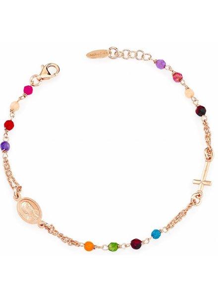 Amen Amen Rosarium armband gekleurd