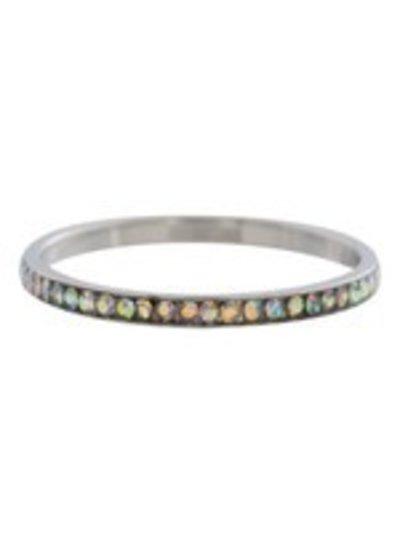 iXXXi Jewelry iXXXi Ring 2 mm Zirconia AB crystal Zilver – R2502-3