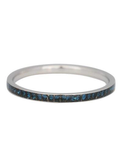 iXXXi Jewelry iXXXi Ring 2 mm Crystal Montana Zilver – R2514-3
