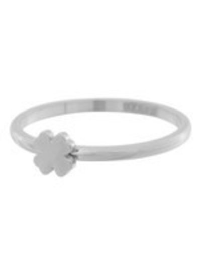 iXXXi Jewelry iXXXi Ring 2 mm Klaver Symbool Zilver – R3502-3