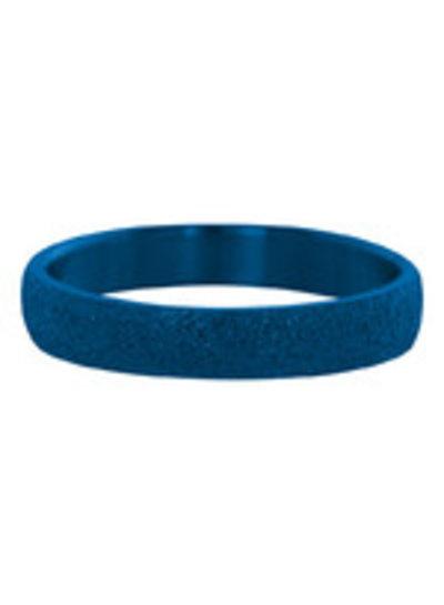 iXXXi Jewelry iXXXi Ring 4 mm Sandblasted Blauw – R2901-8