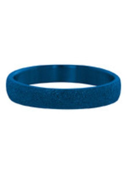 iXXXi Jewelry iXXXi Ring Sandblasted Blauw – R2901-8