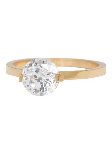 iXXXi Jewelry iXXXi Ring Glamour Stone Goud – R4201-1