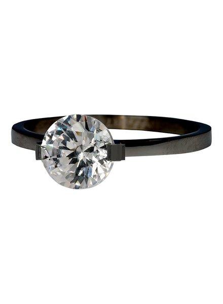 iXXXi Jewelry iXXXi Ring Glamour Stone Black – R4201-5