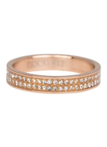iXXXi Jewelry iXXXi Ring Double Zirconia Rose – R3704-2
