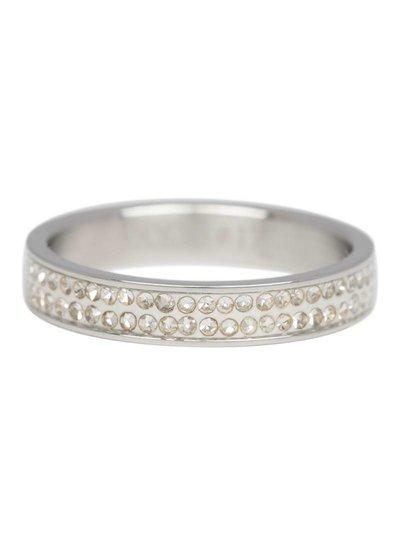 iXXXi Jewelry iXXXi Ring 4 mm Double Zirconia Zilver – R3704-3