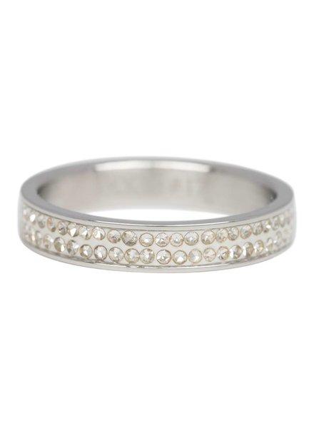 iXXXi Jewelry iXXXi Ring Double Zirconia Zilver – R3704-3