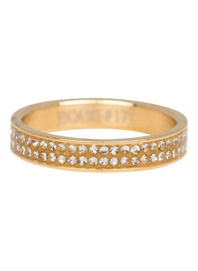 iXXXi Jewelry iXXXi Ring 4 mm Double Zirconia Goud – R3704-1