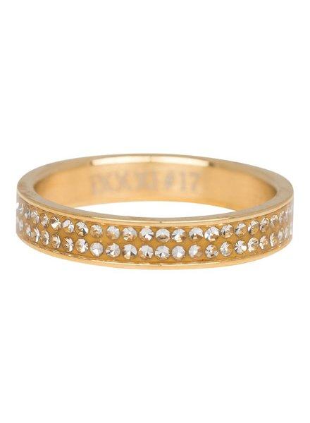 iXXXi Jewelry iXXXi Ring Double Zirconia Goud – R3704-1