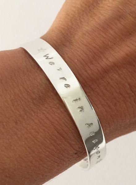 Zilveren tekstarmband 8 mm