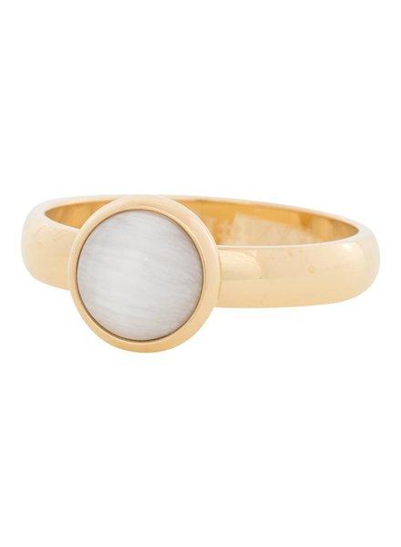 iXXXi Jewelry iXXXi Ring  Cat Eye White  Goud – R4308-1