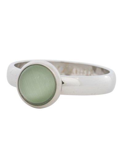 iXXXi Jewelry iXXXi Ring 4 mm  Cat Eye Green  Zilver– R4307-3