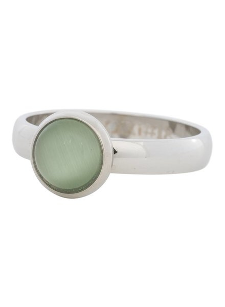 iXXXi Jewelry iXXXi Ring  Cat Eye Green  Zilver– R4307-3