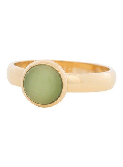 iXXXi Jewelry iXXXi Ring 4 mm  Cat Eye Green  Goud – R4307-1