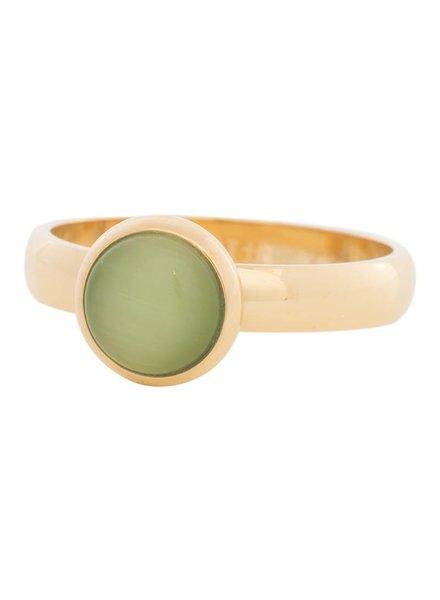iXXXi Jewelry iXXXi Ring  Cat Eye Green  Goud – R4307-1
